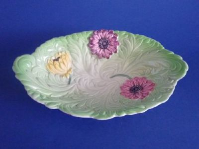 Shorter & Son Green 'Dahlia' Art Deco Dish c1939